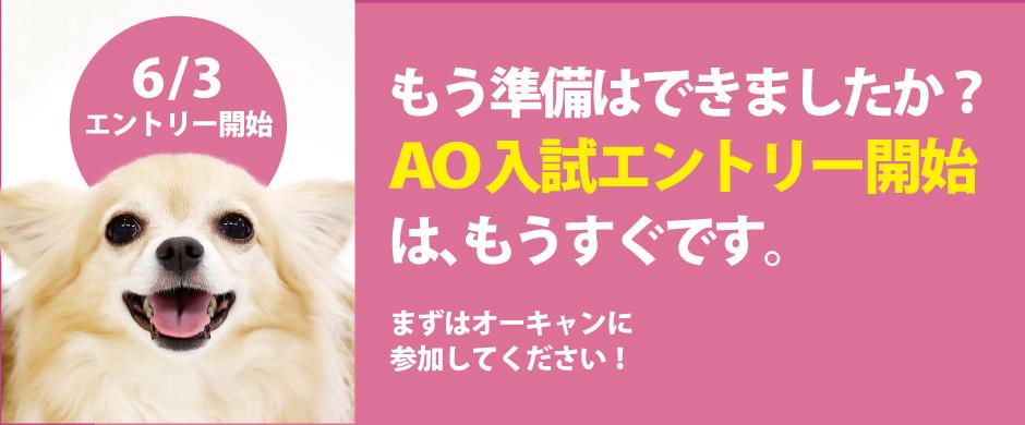 AO入試エントリーは6/3から。まずはオープンキャンパスに参加しよう!